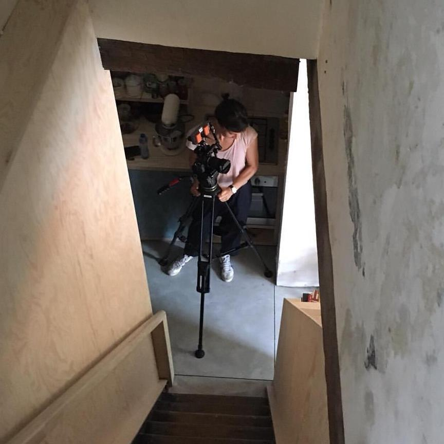 me filming a
